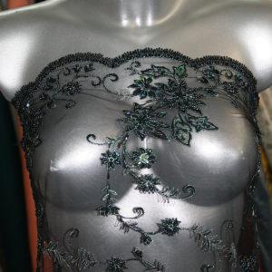 black beaded lace