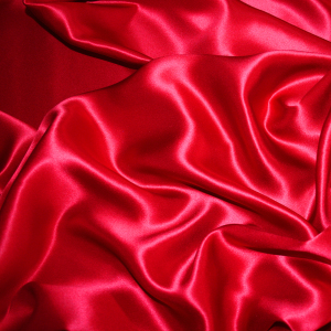 red silk satin fabric