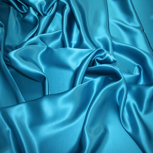 blue silk satin fabric