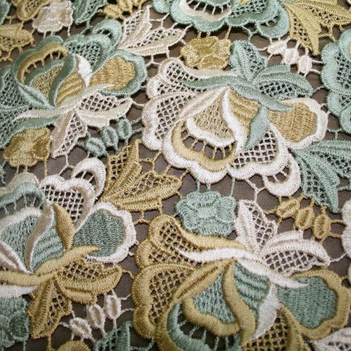 multi color guipure lace