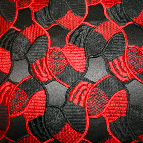 red black guipure