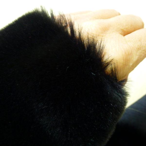 black fur fabric
