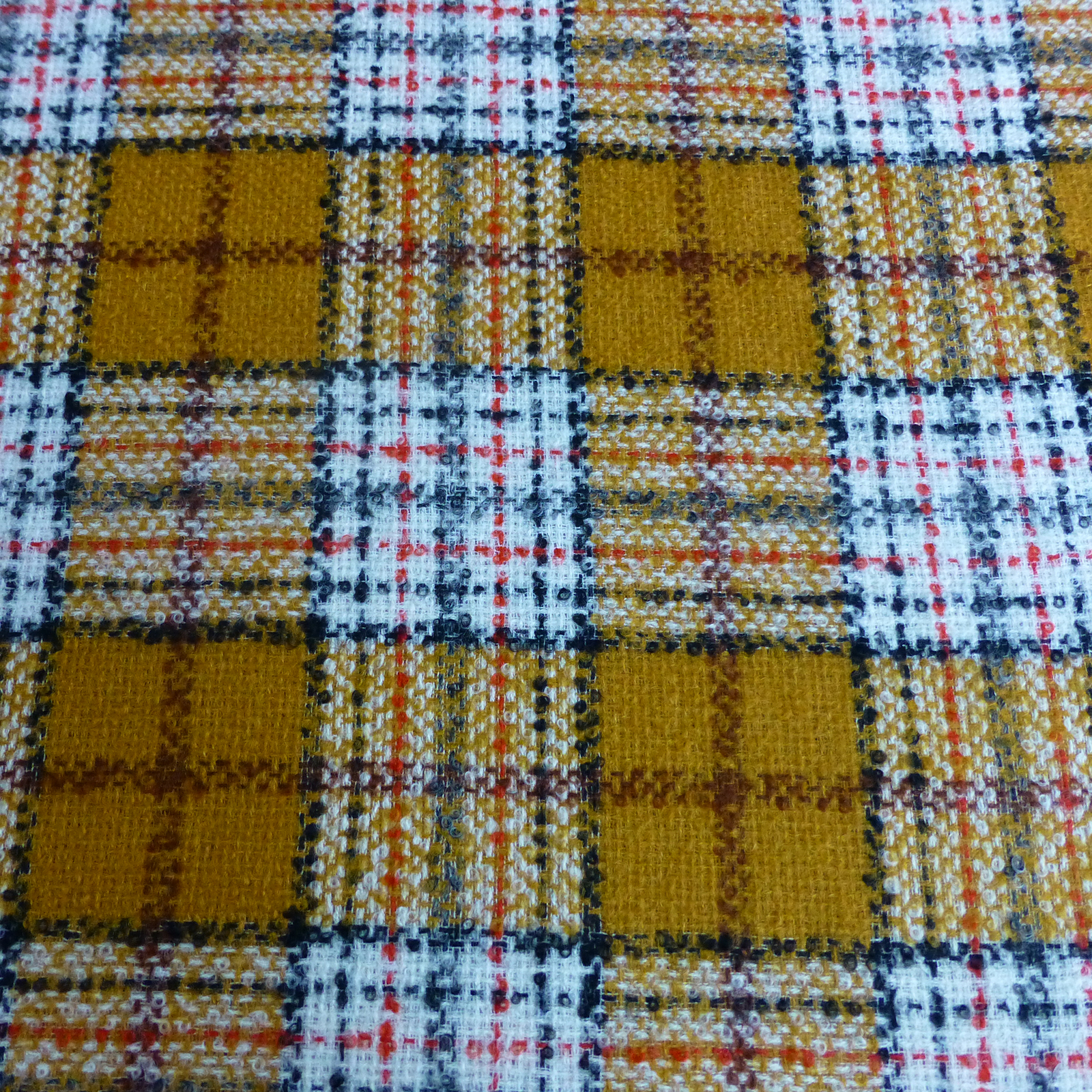 Golden yellow check fabric bodikian textiles for Dressmaking fabric