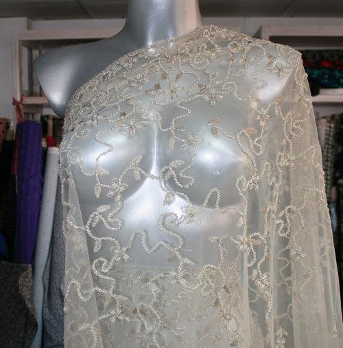 nude bridal lace fabric