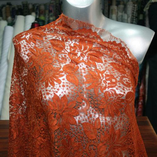 russet orange lace
