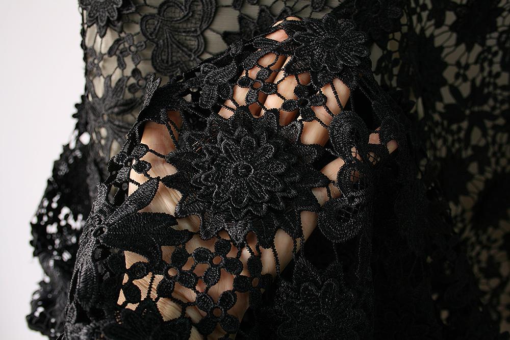 black guipure