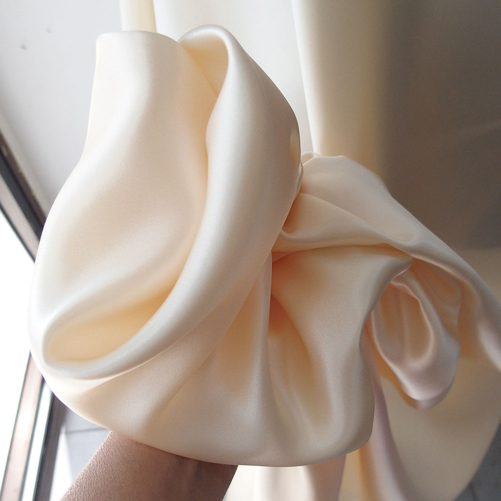 ivory cream silk satin fabric