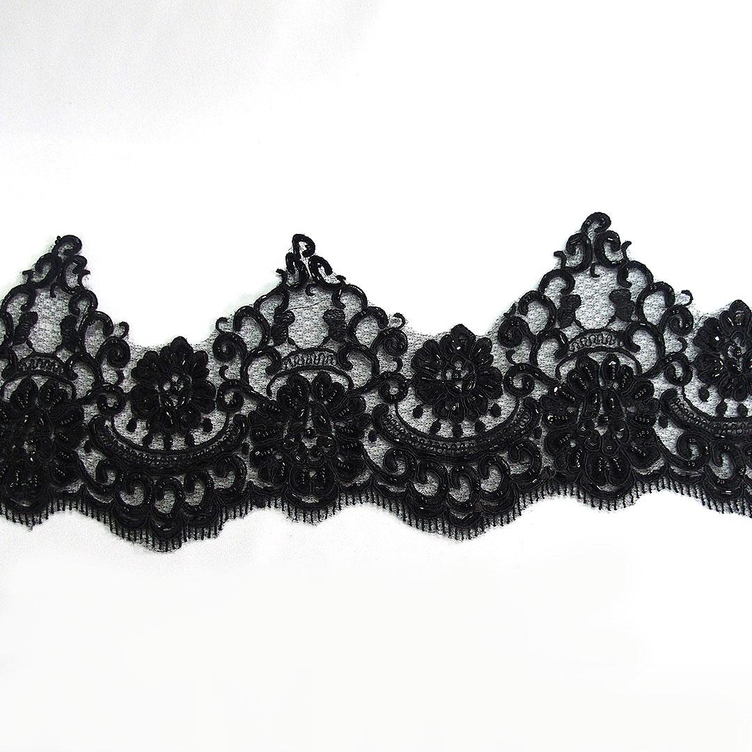 beaded border lace