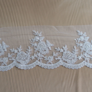 bridal border trim lace