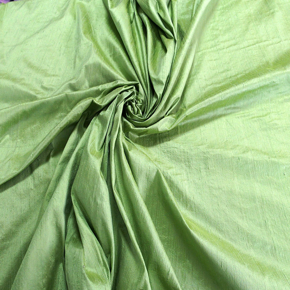 green 100 dupioni silk fabric yardage by the yard 54
