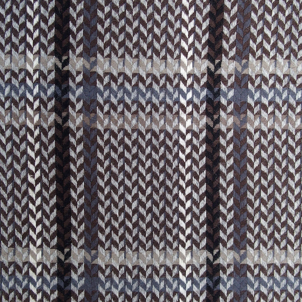 Brown check wool fabric prince de galles pattern prince of for Patterned material fabric