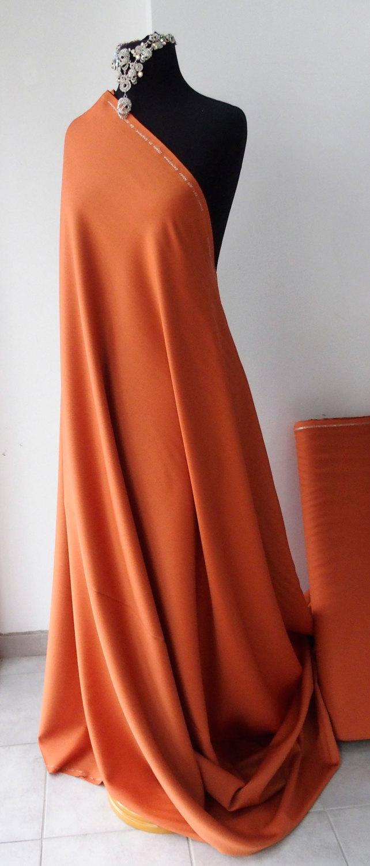 orange russet wool suiting