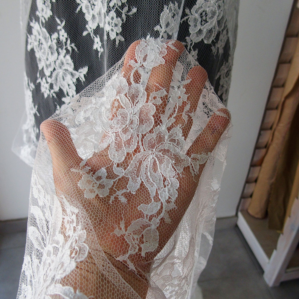French bridal lace fabric