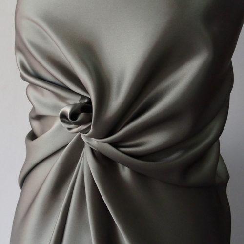 green satin fabric
