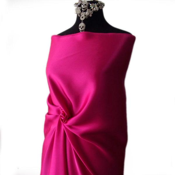 fuchsia pink satin