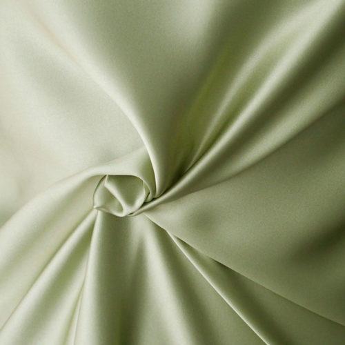 green silk satin