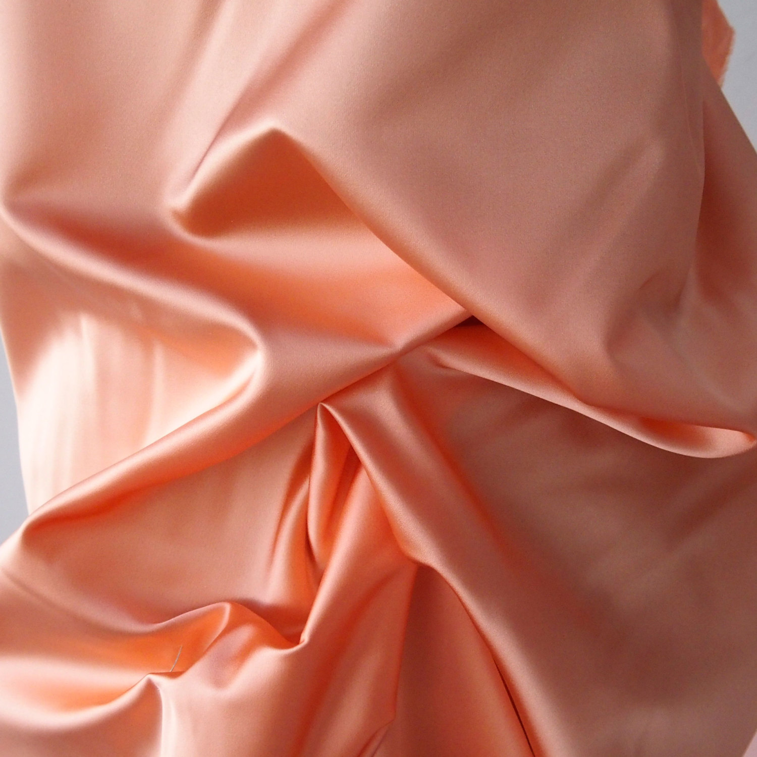 Coral duchess satin fabric bridal bridal mother of bride for Satin fabric