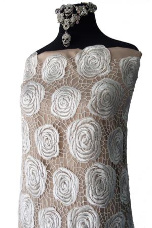 white guipure lace