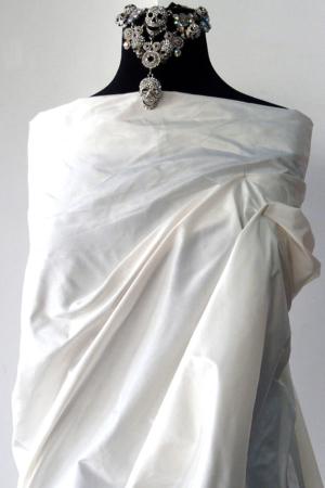 ivory silk taffeta