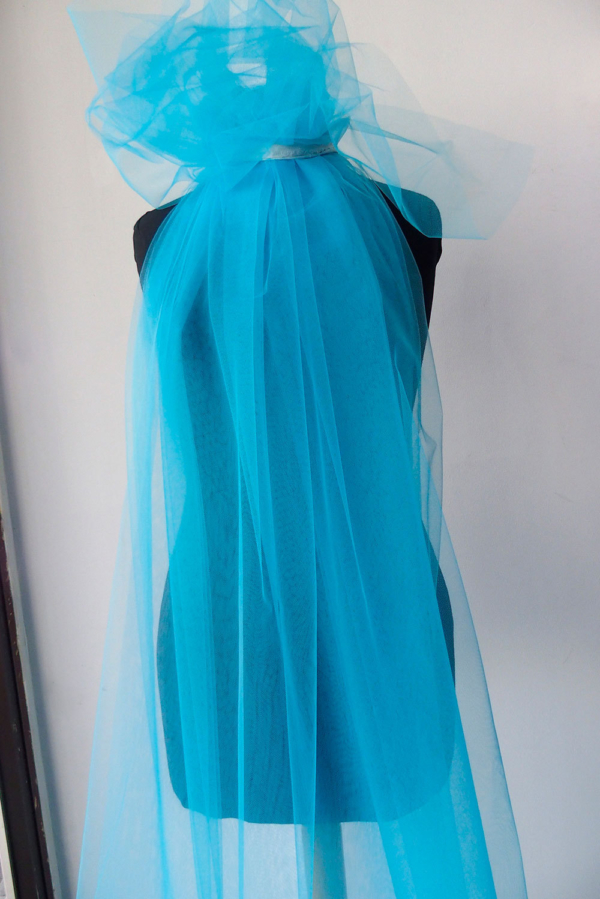 turquoise blue tulle