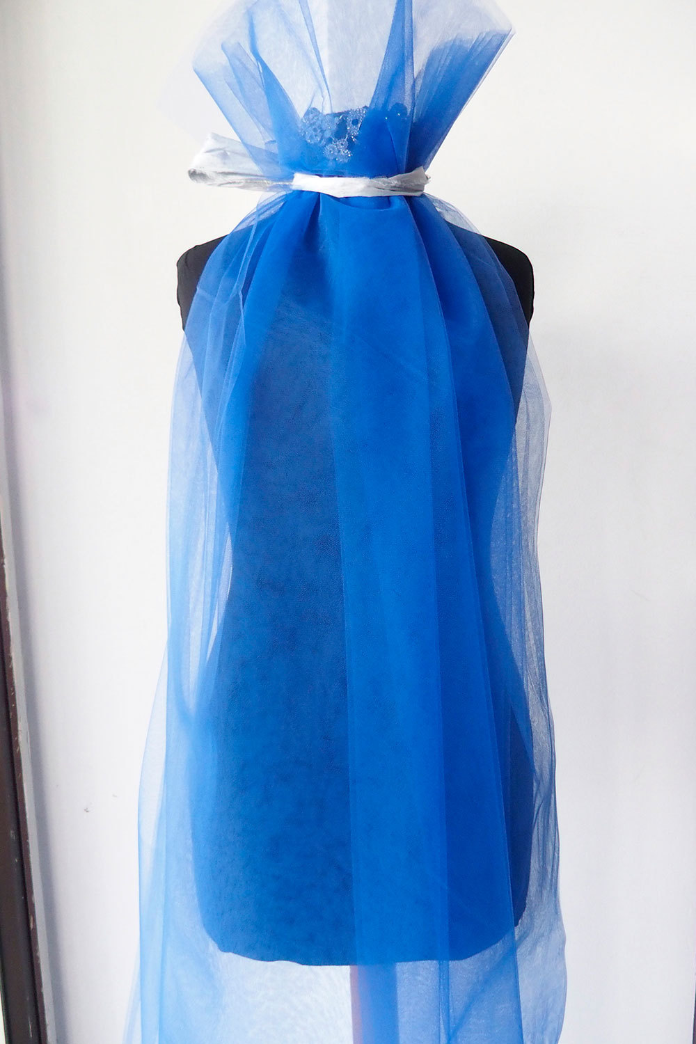 blue tulle