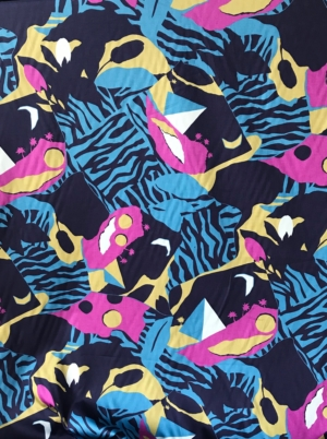 sateen cotton summer dress fabric