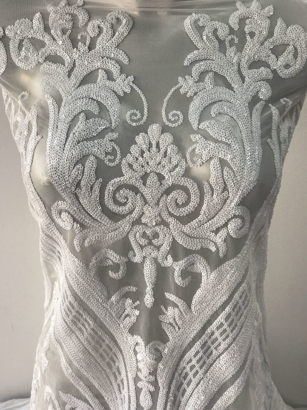 sequins bridal lace
