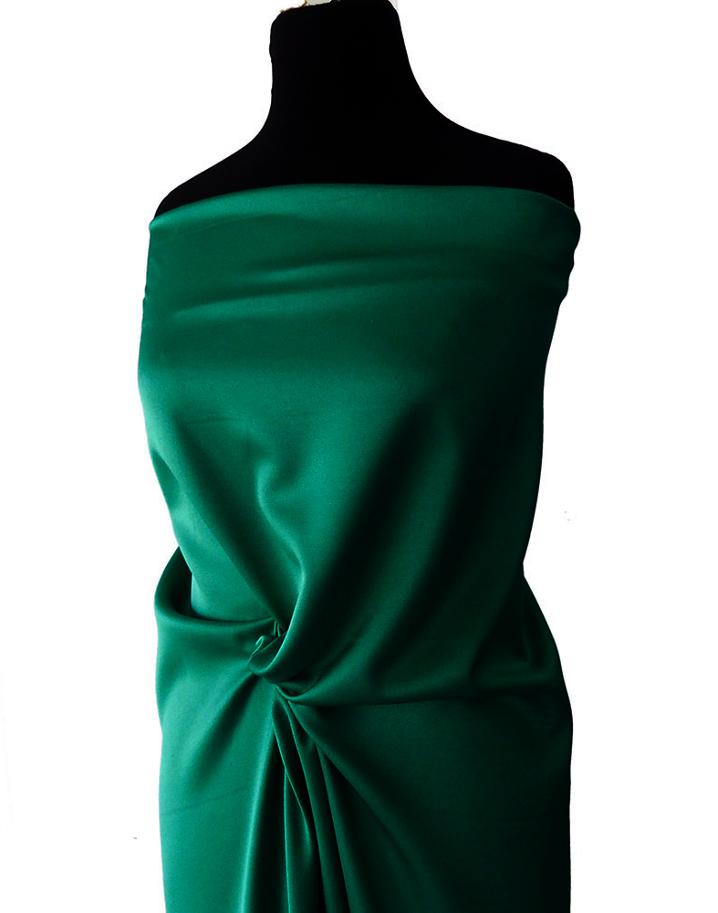 green crepe back satin