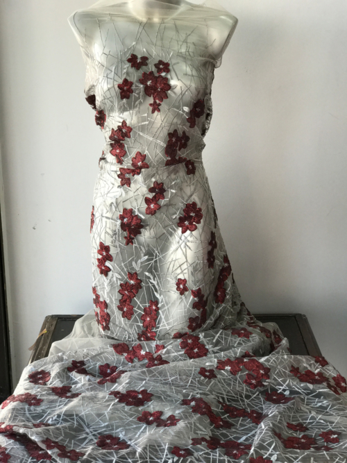 red silver lace