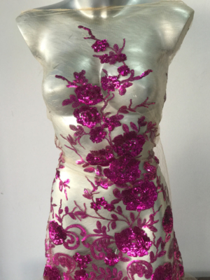 pink sequins fabric