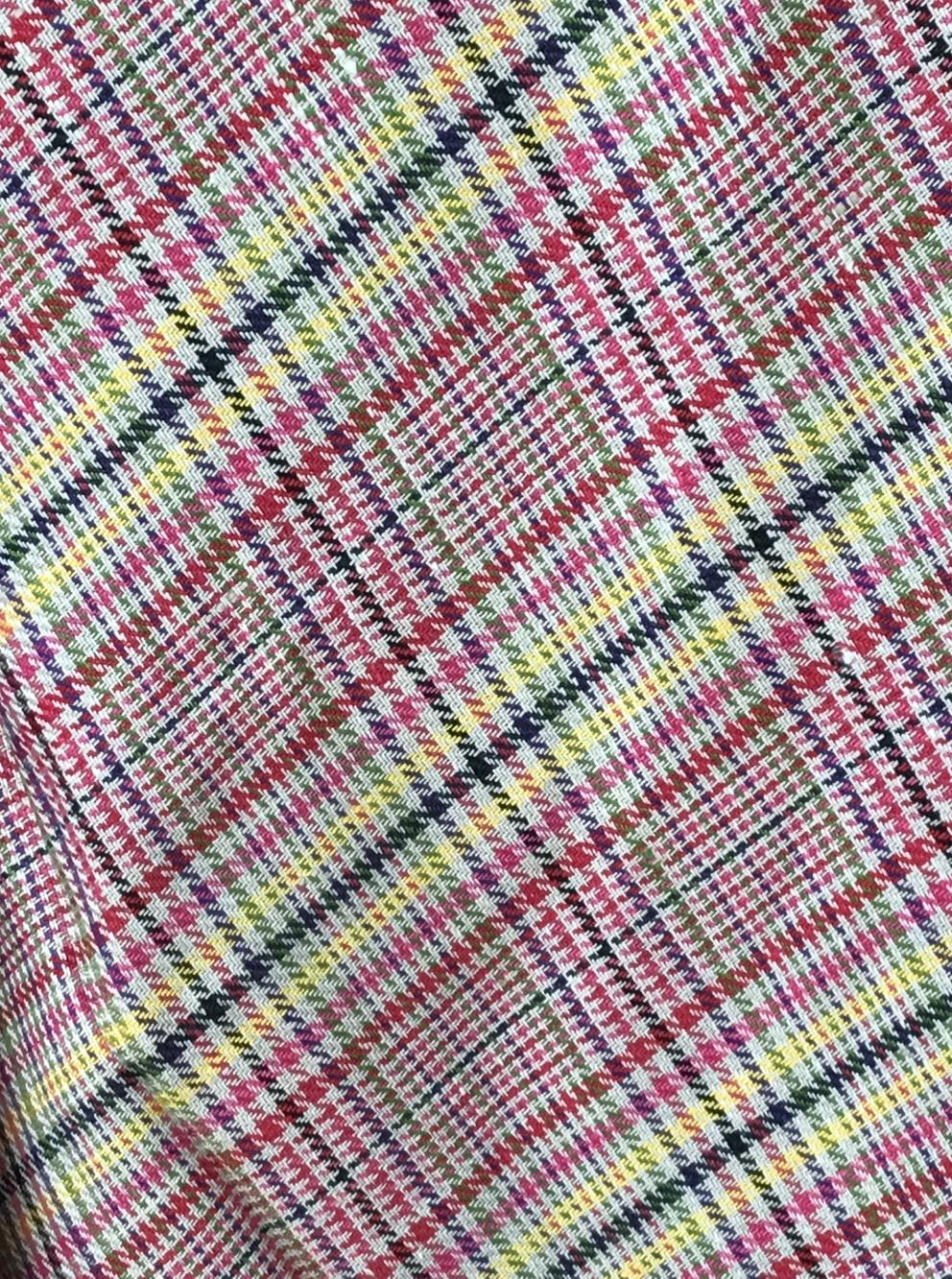 linen fabric check pattern