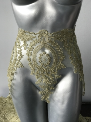 gold border lace
