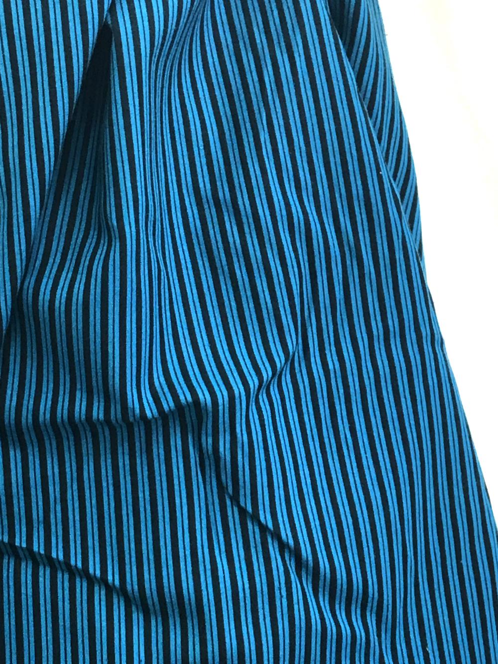 blue and black stripe cotton