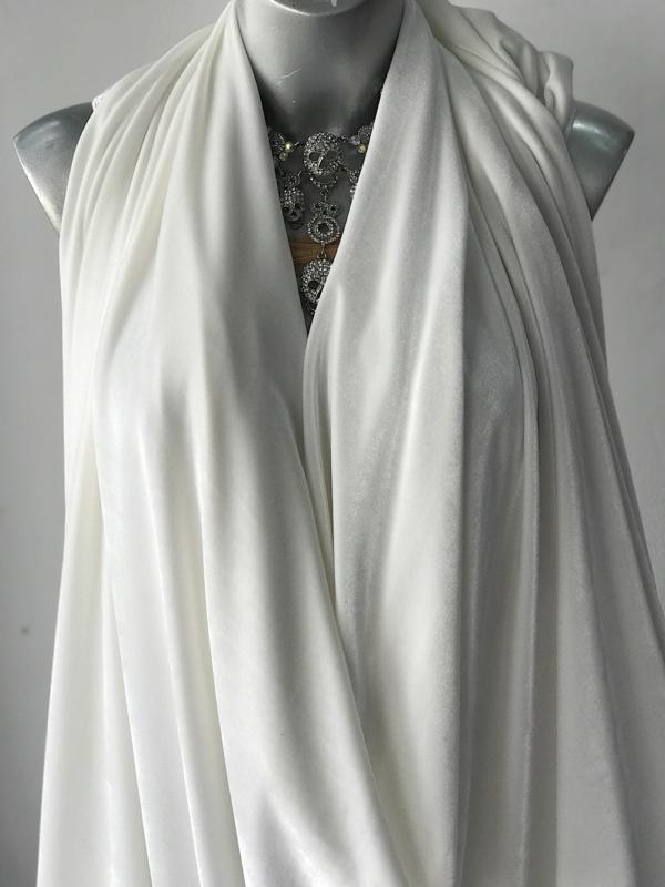 white velvet jersey