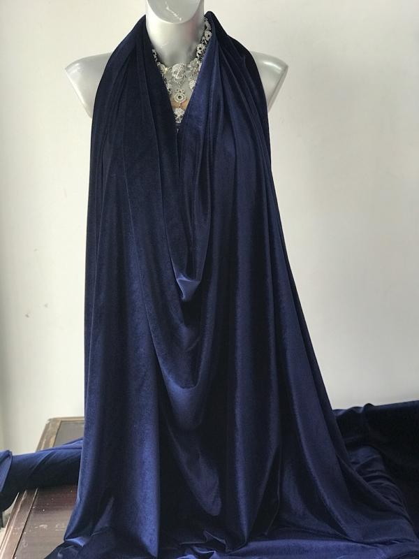 navy blue velvet jersey