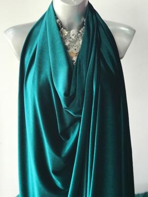 green stretch velvet