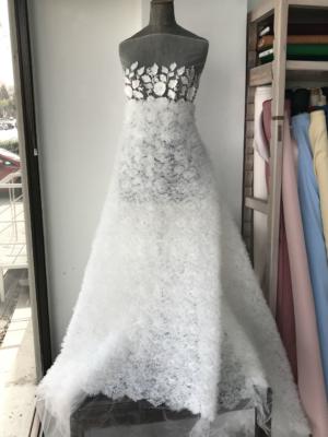 3D tulle lace