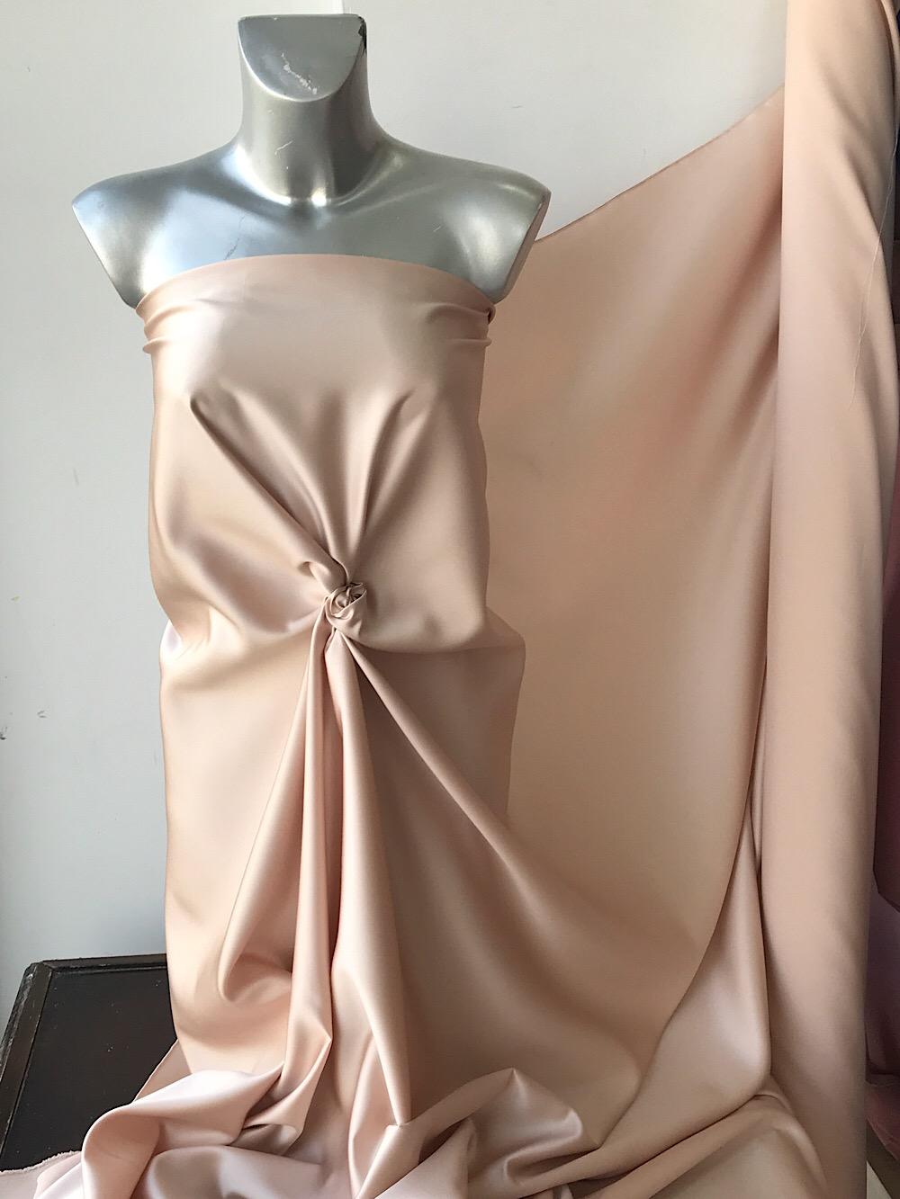 pink champagne duchess satin