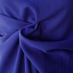 cobalt blue purple blue polyester wool pebble crepe fabric made in Germany skirt dress suit wool georgette