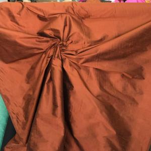 Russet dupioni silk fabric