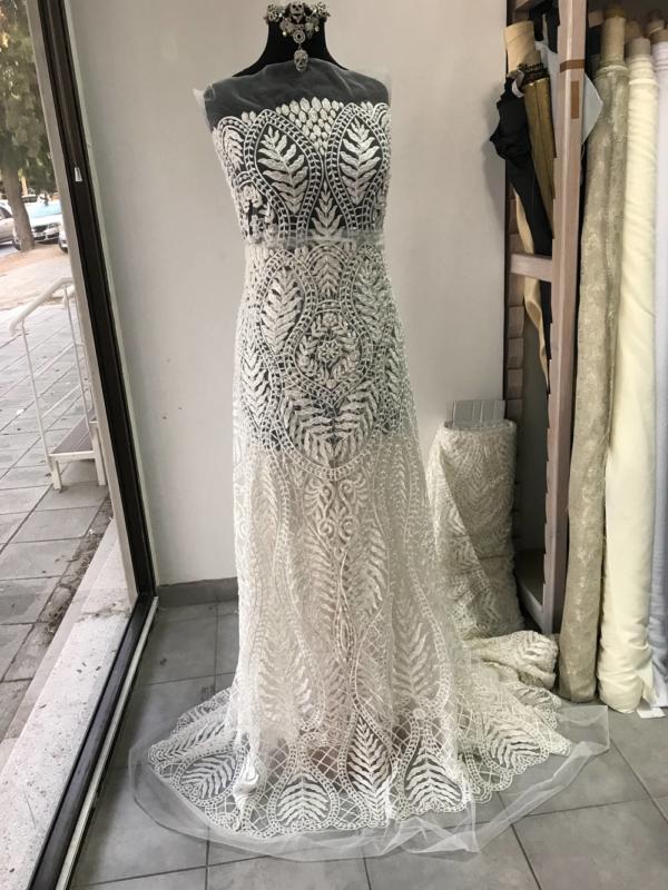 ivory beaded lace bridal