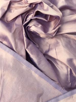 Beige iridescent dupioni silk fabric