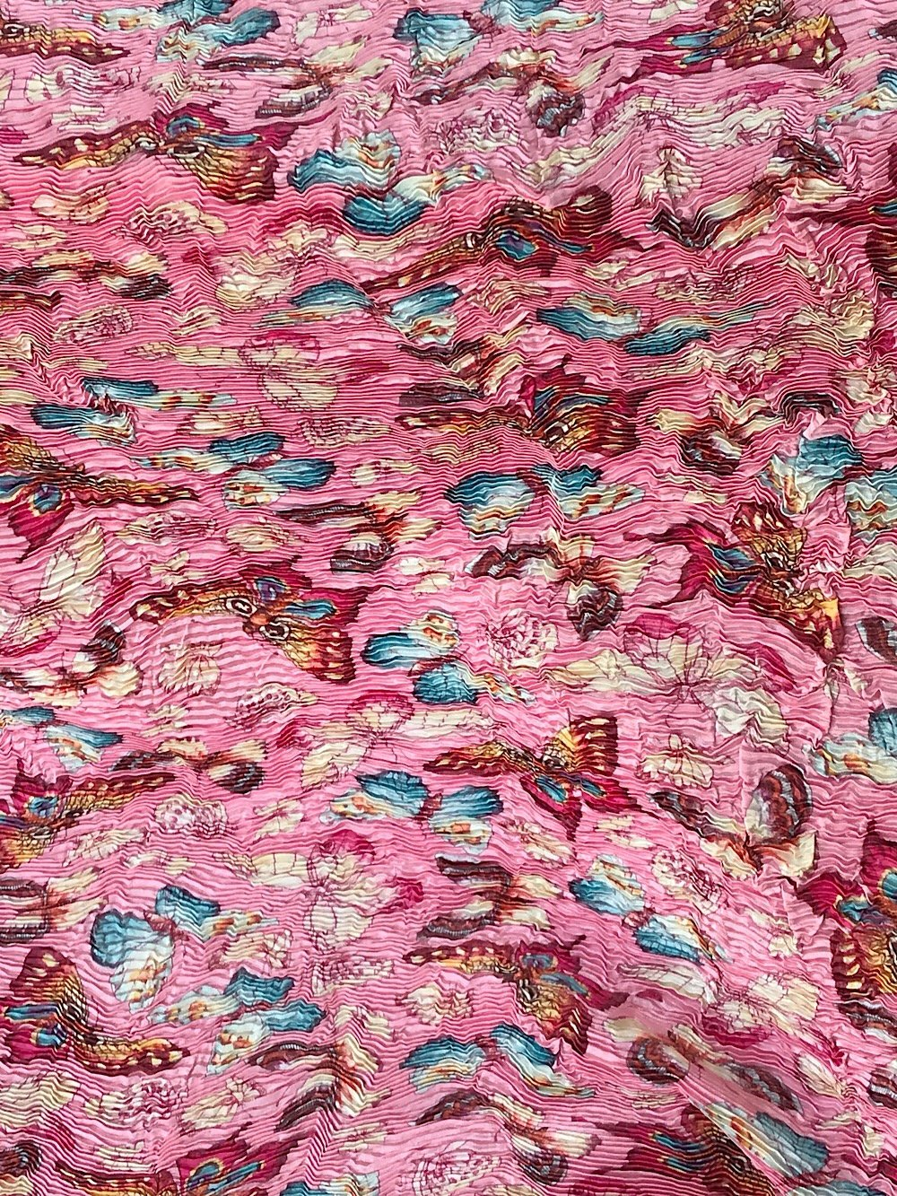 Butterfly print Pleated ruched fabric formal dress high fashion couture dress suiting mother of bride140 cm wid