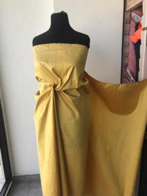 "Iridescent yellow gold 100% dupioni silk fabric yardage By the Yard 120cm 45"" wide raw silk Soie Sauvage Bordeux wine color"