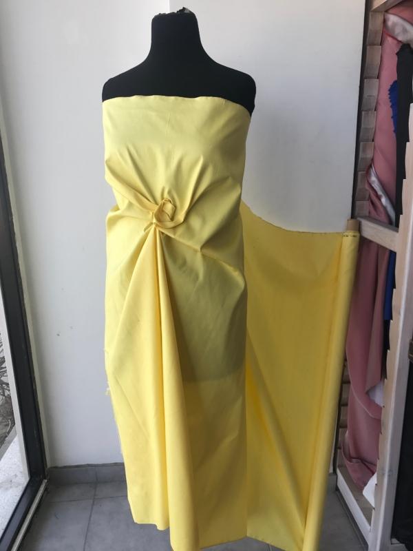 "Banana yellow 100% dupioni silk fabric yardage By the Yard 36.5"" inches wide raw silk Soie Sauvage"