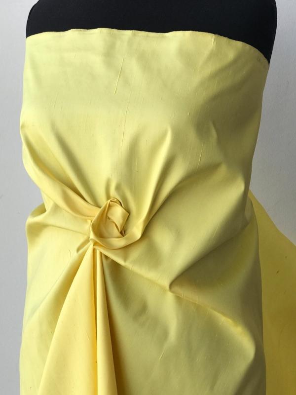 yellow silk Dupion