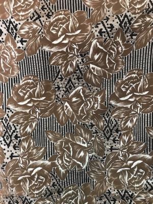 Large floral sun dress fabric 100% cotton Swiss production 140cm wide