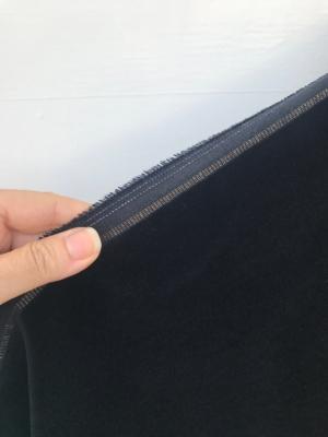 Black cotton velvet fabric