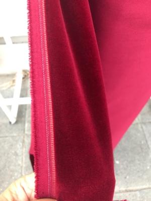Burgundy Red cotton velvet fabric