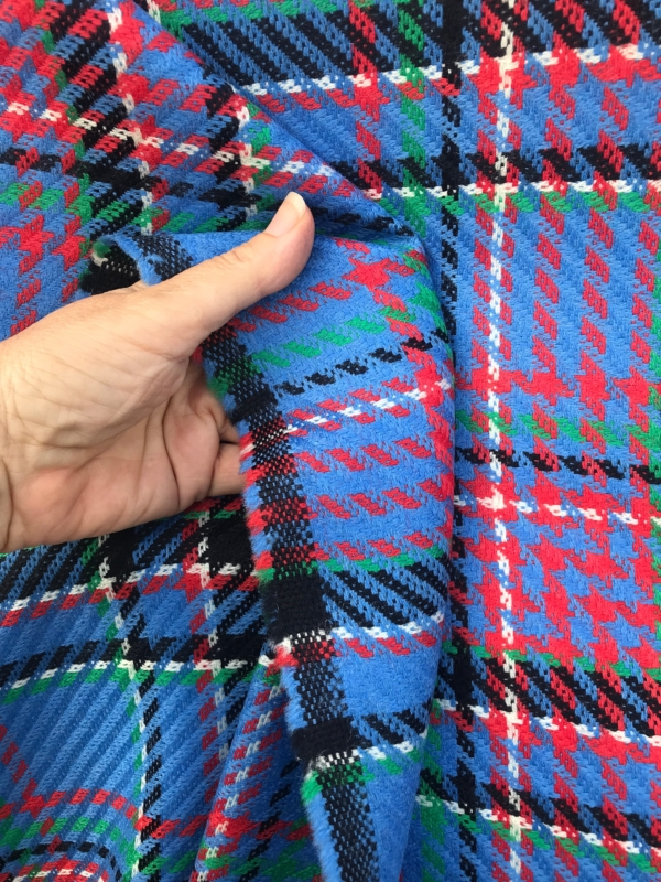 Large check wool fabric, Tartan, pure wool high end coat fabric 150cm wide